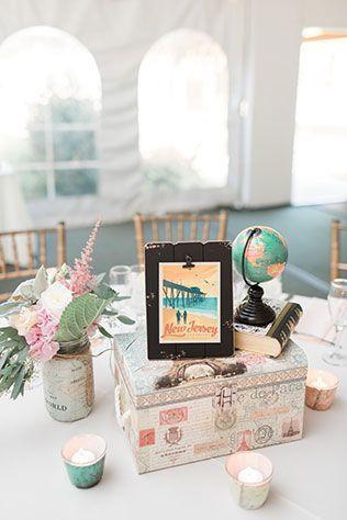 Mesa de casamento viagens
