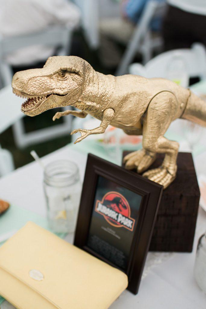 Mesa de casamento Jurassic Park