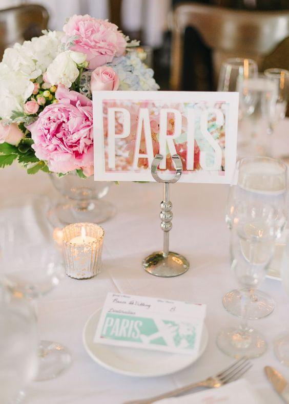 Mesa de casamento Paris