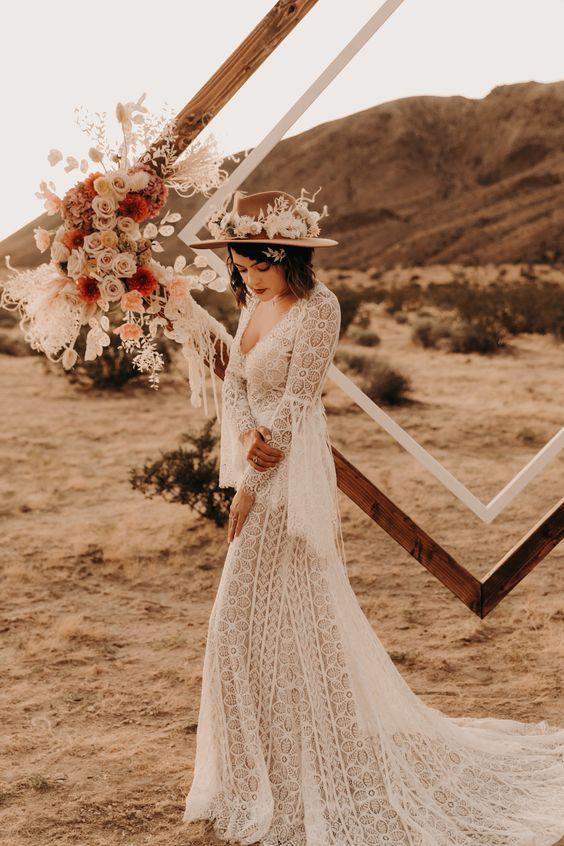 Noiva de Outono com Chapéu