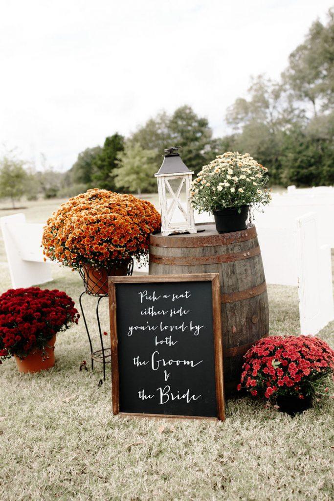Decoração de Casamento de Outono
