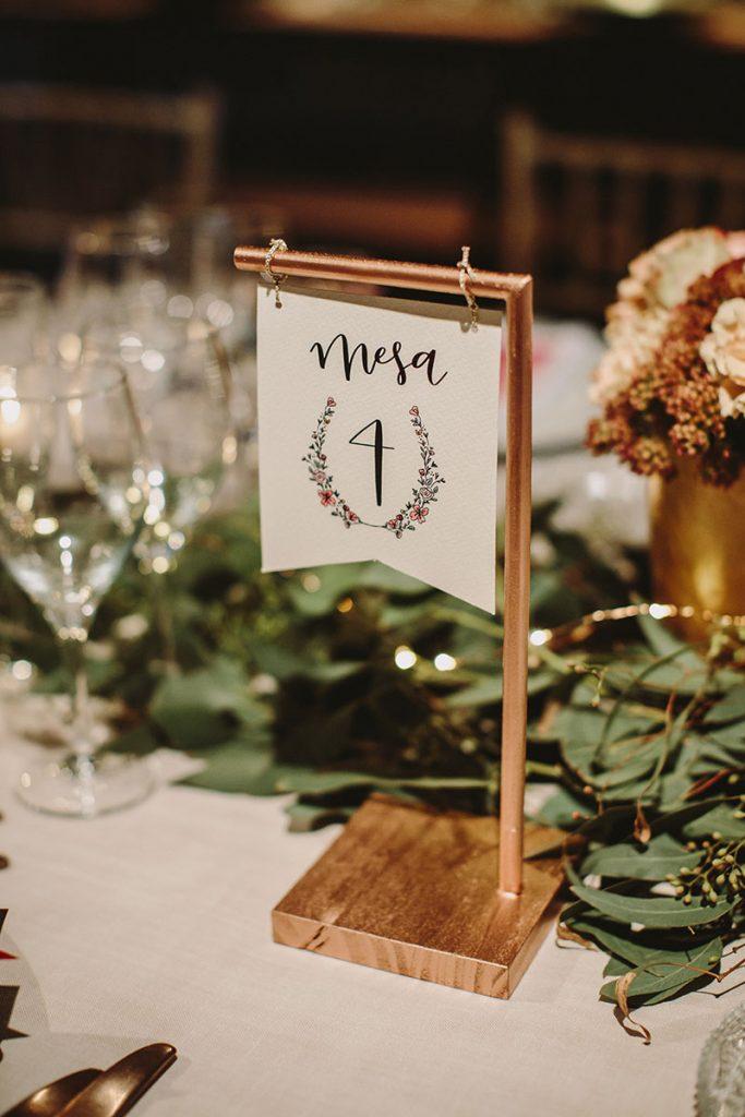 Números de mesa de casamento