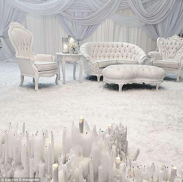 Decoração Heaven Guestbook Casamento da Kat VonCasamento da Kat Von D