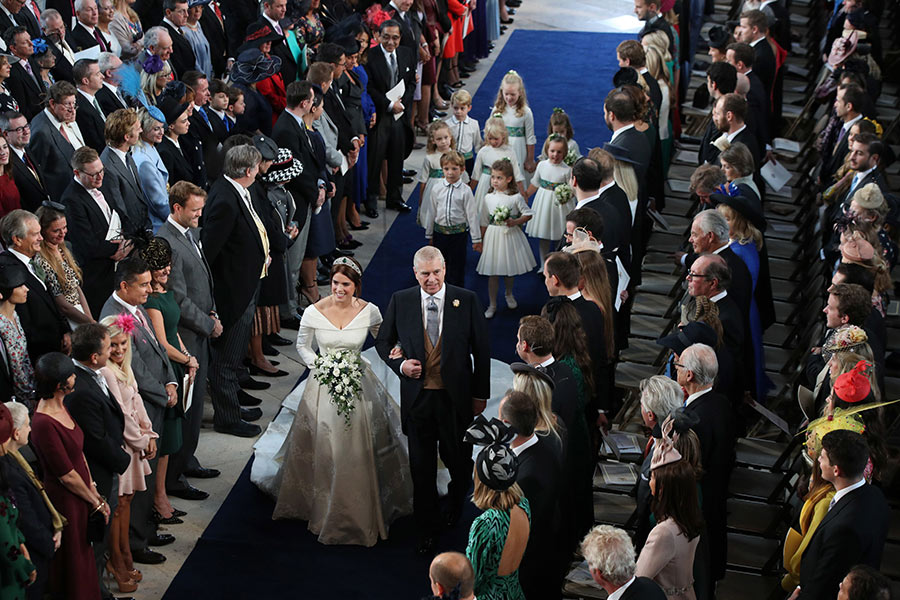 Princesa Eugenie a chegar à capela de S. Jorge