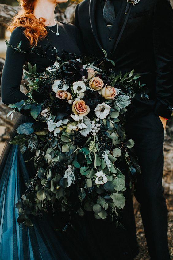 Bouquet de Casamento em Preto