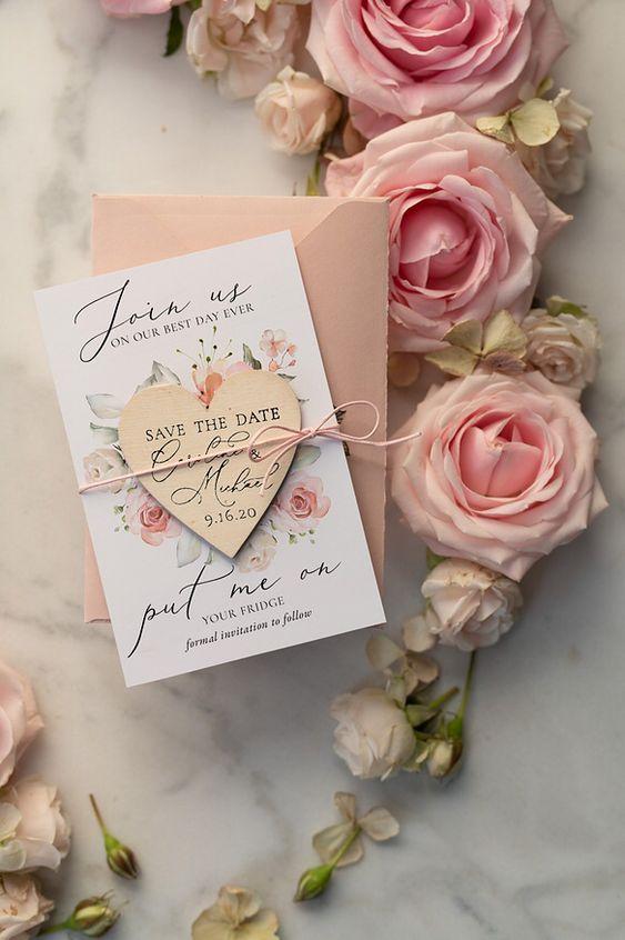 Convite Romantico Iman Frigorifico