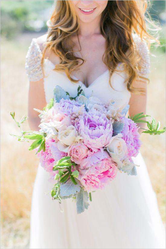 Bouquet em tons pastel