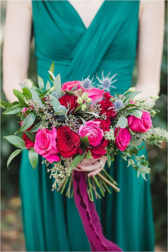 Bouquet em Rosa e Verde